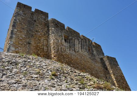 The Wall Of The Castle At Tomar, Portugal