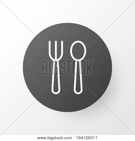 Silverware Icon Symbol. Premium Quality Isolated Kitchenware Element In Trendy Style.