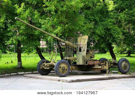 Gun Or Tank On The Street, Exhibit Exhibit, Military Object