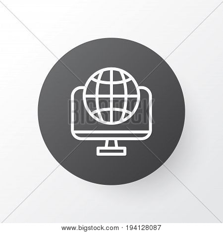 World Wide Web Icon Symbol. Premium Quality Isolated Global Element In Trendy Style.