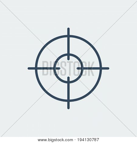 Aim icon. Target symbol. Crosshair. Silhouette vector illustration