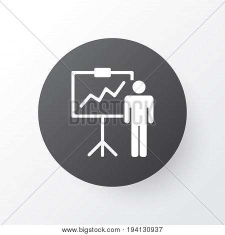 Personal Presentation Icon Symbol. Premium Quality Isolated Special Demonstration Element In Trendy Style.