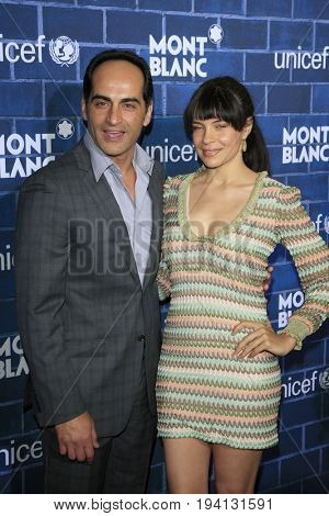 LOS ANGELES - FEB 23:  Navid Negahban, Zuleikha Robinson at the Pre-Oscar charity brunch by Montblanc & UNICEF at Hotel Bel-Air on February 23, 2013 in Los Angeles, CA