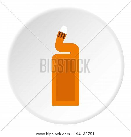 Disinfectant for the bathroom icon in flat circle isolated vector illustration for web