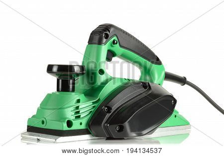 powerful, efficient, modern, electric planer on white background