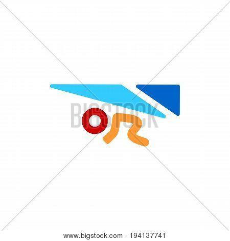 Hang glider concept - Minimal vector icon. eps 10