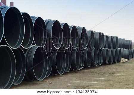pipe plastic large diameter pipe is huge