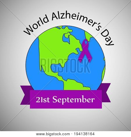 illustration of earth with World Alzheimer's Day 21st September text