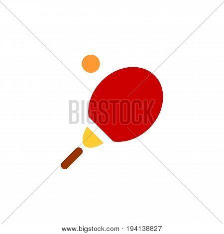Vector tennis racket and tennis ball icon. Tennis icon on white background. Eps 10, flat design