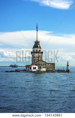 The Maiden's Tower in Istanbul city, Turkey