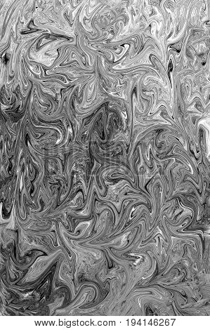 Abstract background of black and white twisting lines