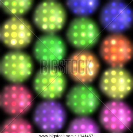Luces del escenario en colores brillantes