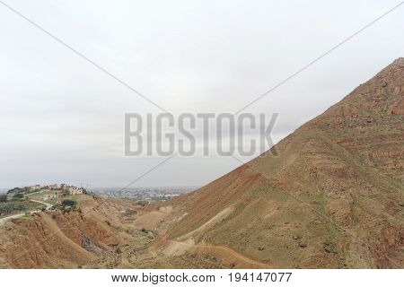 Jericho, Israel. - February 16.2017. View from the Mount of Temptation in Jericho