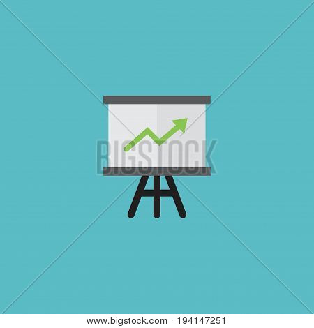Flat Icon Statistics Element. Vector Illustration Of Flat Icon Growing Chart Isolated On Clean Background. Can Be Used As Growing, Chart And Arrow Symbols.