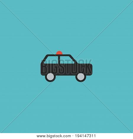 Flat Icon Suv Element. Vector Illustration Of Flat Icon Armored Car  Isolated On Clean Background. Can Be Used As Armored, Car And Suv Symbols.