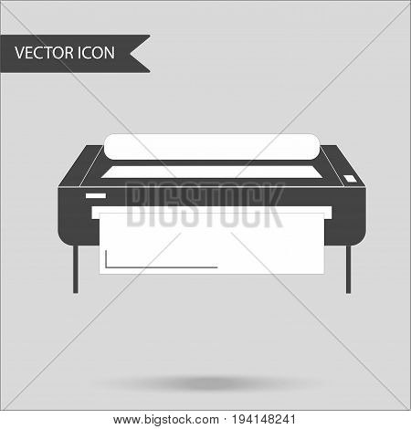 Vector illustration as an industrial printer. The concept of a flat icon.