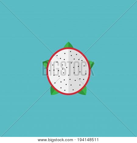 Flat Icon Dragon-Fruit Element. Vector Illustration Of Flat Icon Pitaya Isolated On Clean Background. Can Be Used As Pitaya, Dragon And Fruit Symbols.