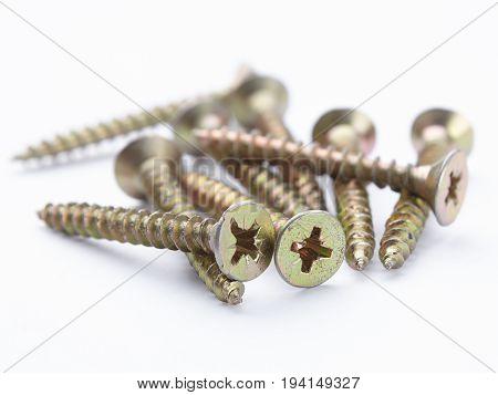 Mounting screw in steel mounting hardware macro