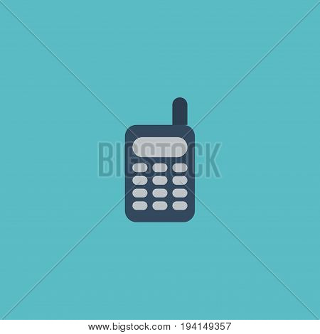 Flat Icon Phone Element. Vector Illustration Of Flat Icon Walkie-Talkie  Isolated On Clean Background. Can Be Used As Phone, Ratio And Remote Symbols.