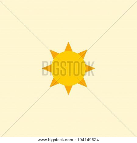 Flat Icon Sun Element. Vector Illustration Of Flat Icon Solar Isolated On Clean Background. Can Be Used As Sun, Solar And Sunshine Symbols.