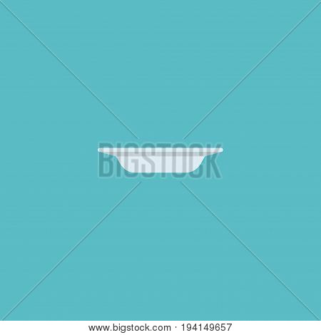 Flat Icon Plate Element. Vector Illustration Of Flat Icon Dish Isolated On Clean Background. Can Be Used As Plate, Dish And Dishware Symbols.