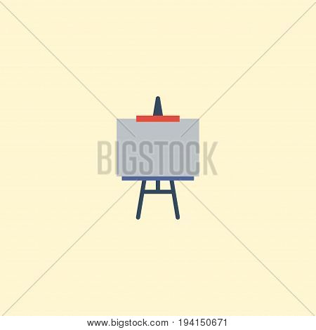 Flat Icon Easel Element. Vector Illustration Of Flat Icon Stand Isolated On Clean Background. Can Be Used As Stand, Easel And Draw Symbols.