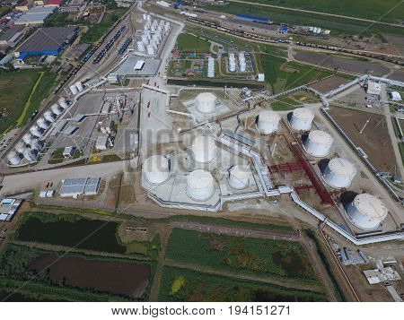 Reservoirs For Storage Of Oil And Products Of Its Processing. Refinery.