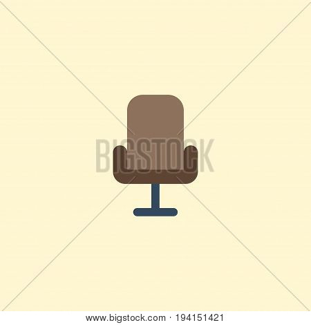 Flat Icon Office Chair Element. Vector Illustration Of Flat Icon Armchair Isolated On Clean Background. Can Be Used As Armchair, Office And Chair Symbols.