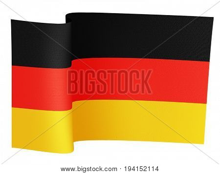 illustration of the German flag on a white background
