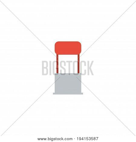 Flat Icon Stand Element. Vector Illustration Of Flat Icon Advertising  Isolated On Clean Background. Can Be Used As Stand, Advertising And Billboard Symbols.