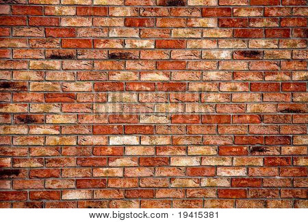 Old brick wall architectural background texture