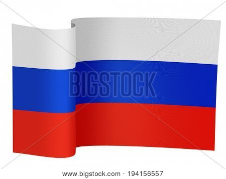 illustration of the Russian flag on a white background