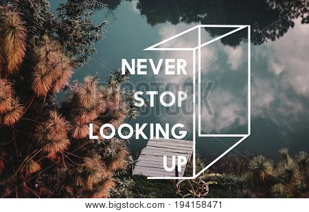 Nature sky photo with motivate quotes