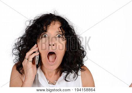 Woman Talking On Phone.