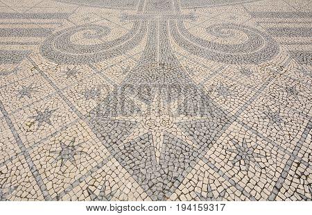 Detail Of A Cobblestone Pavement - Lisbon, Portugal
