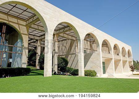 JERUSALEM ISRAEL - JUNE 29 2017: Building of the Brigham Young University Jerusalem Center for Near Eastern Studies