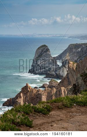 Cabo da Roca cliffs - westernmost extent of mainland Portugal and continental Europe