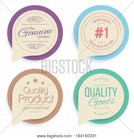 Badges and labels collection. Quality assurance marks Vector