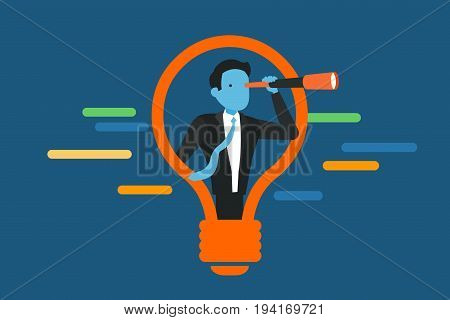 Searching for opportunities. Business concept vector Illustration