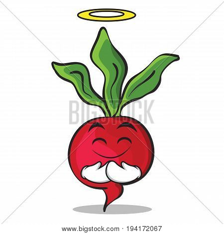 Innocent radish character cartoon collection vector illustration