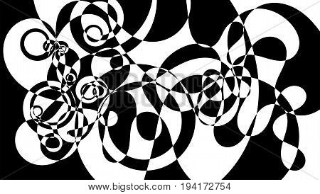 Modern monochromatic black and white mosaic texture background