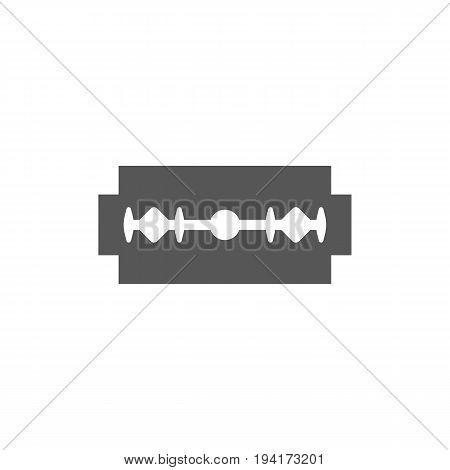 Simple Razor blade icon, silhouette design vector