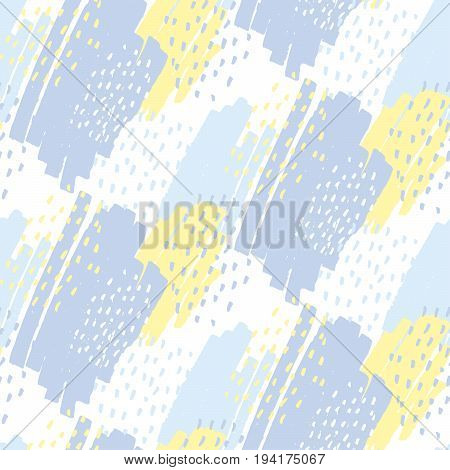 modern doodle hand drawn seamless pattern. creative fabric repairable print in pale tender colors