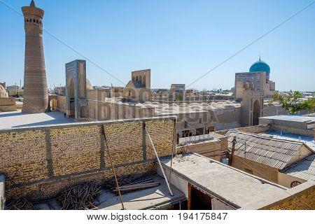 Kalyan minaret and mosque in Bukhara Uzbekistan