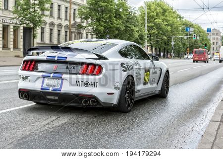 Riga, LV - JULY 1, 2017: Gumball 3000 Race Car 119