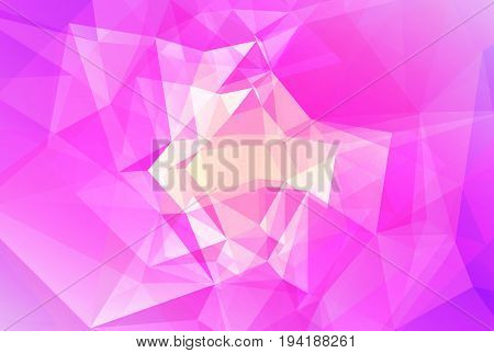 Gradient abstract horizontal triangle background. Tender rose polygonal backdrop for business presentation. Soft gradient color transition for mobile application and web. Geometric colorful banner.