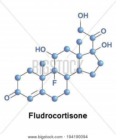 Fludrocortisone is a corticosteroid used to treat adrenogenital syndrome postural hypotension and adrenal insufficiency.
