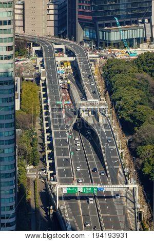 Vehicles On Highway In Tokyo, Japan