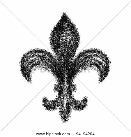 Hand Drawn Doodle Of A Single Fleur-de-lis For Decoration Made With Triangle Confetti Digital Air Sp