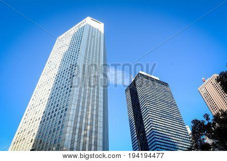 Modern Buildings In Tokyo, Japan